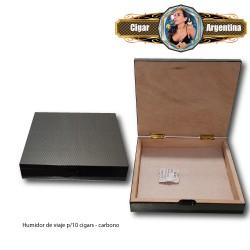 Humidor para 10 cigar - carbono