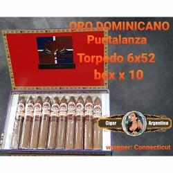 ORO DOMINICANO - TORPEDO PUNTALANZA 52x6 Connecticut - Box x 10