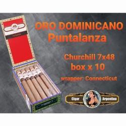 ORO DOMINICANO - CHURCHILL PUNTALANZA 48x7 Connecticut - Box x 10