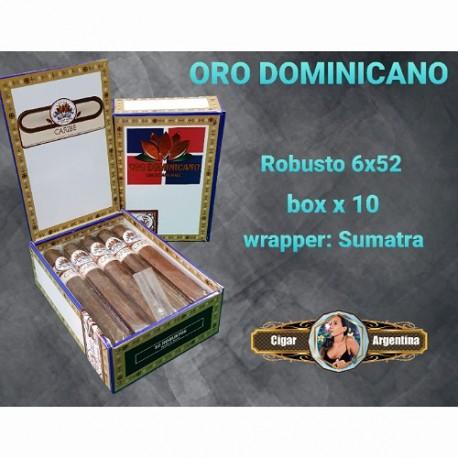 ORO DOMINICANO - ROBUSTO 52x6 -sumatra  Box x 10