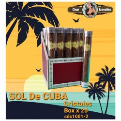 SOL DE CUBA - Cristales Exhibidor x 25