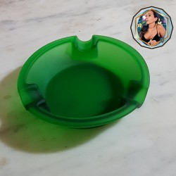 ASHTRAY CIGAR GLASS MATE GREEN -11255