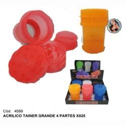 PICADOR ACRILICO TAINER GRANDE 4P - CAJA X 6