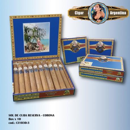 SOL DE CUBA RESERVA - Corona Box x 10