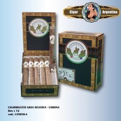 CIGARMASTER GRAN RESERVA - Corona Box x 12