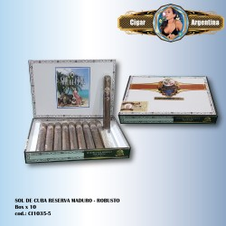 SOL DE CUBA RESERVA MADURO - Robusto Box x 10
