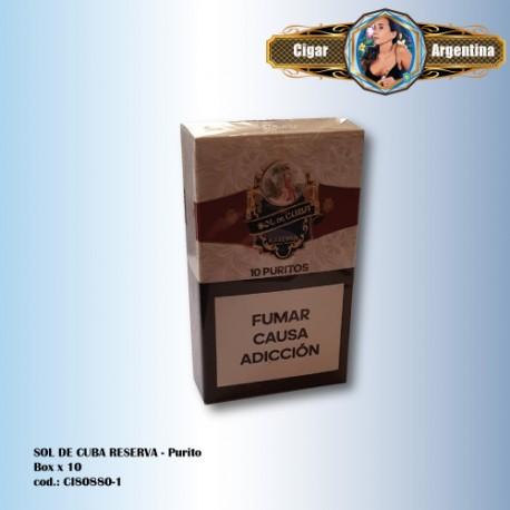SOL DE CUBA RESERVA - Purito Box x 10
