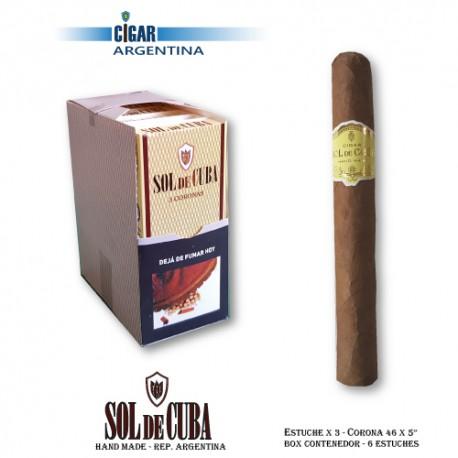SOL DE CUBA CORONA Box x 3 - Cont.6 estuches